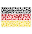german flag mosaic of cannabis items vector image