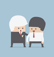 Good leader give some advice for his team vector image vector image