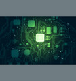 green electronic vector image vector image