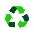 green recycle logo vector image vector image