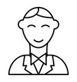 groom thin line icon man vector image