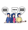 group people speech bubble vector image