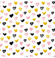 grunge hearts seamless pattern vector image