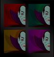 halloween dracula party set vector image vector image