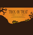 halloween style greeting card vector image vector image