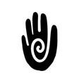 hand icon aztec vector image vector image