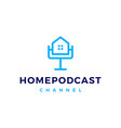 home podcast logo icon for house mortgage blog vector image vector image
