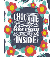 hot chocolate hand lettering composition hand vector image vector image