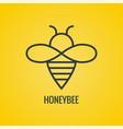 icon honey bees vector image vector image