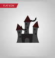 isolated castle flat icon fortress element vector image