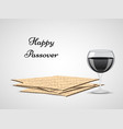 jewish holiday passover background vector image