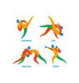 Judo Taekwondo Boxing Wrestiling Icon vector image vector image