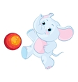 little elephant playing with a ball vector image vector image