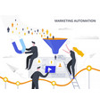 marketing automation and lead generation flat