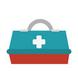 medical box isolated icon vector image vector image