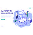 medical diagnostics isometric vector image