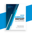 modern blue business annual report brochure vector image vector image