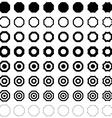 Octagon polygon set vector image vector image
