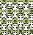 panda pattern vector image