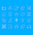pool equipment simple paper cut icons set vector image vector image