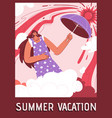 poster summer vacation concept vector image vector image