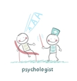 psychologist conducts a stick and the patient vector image vector image
