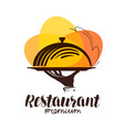 restaurant logo icon or symbol for design menu vector image vector image