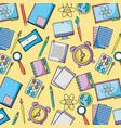 school uetensils education background design vector image vector image