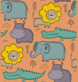 seamless pattern with cartoon african vector image vector image