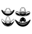 set cowboy hat isolated on white background vector image vector image
