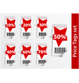 set discount labels with bar code vector image vector image