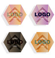 set modern icon design logo element with business vector image vector image