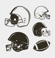 set of american football equipment and gear vector image vector image