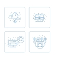 Set of pictogram in box vector image vector image
