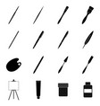 set of tools for drawing and painting vector image vector image