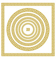 set Traditional vintage golden square and round vector image vector image