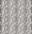 Silver floral vintage seamless pattern vector image