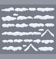 snow caps snowdrifts and icicles winter vector image vector image