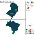 south region of brazil vector image vector image