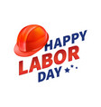 stock happy labor day text vector image vector image