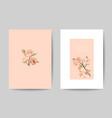 stylish wedding invitation cards templates set vector image vector image