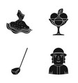 textiles cafe profession and other web icon in vector image vector image