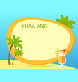 thailand inscription in tag with yellow border vector image vector image