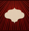 the frame on a textile red background vector image