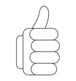 thumb up icon outline style vector image vector image