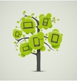Tree with electronics vector image vector image