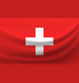 waving national flag of switzerland vector image