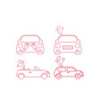 Wedding car icon design template isolated