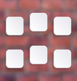 white buttons vector image vector image