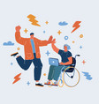 woman disabled vector image vector image